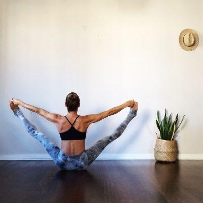 Myriam Hamer doing yoga